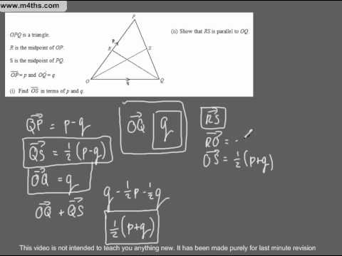 (Q48) A Star GCSE Revision Exam Style Questions Vectors