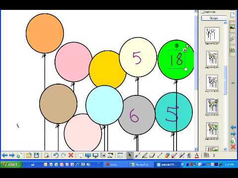 Teaching with Smartboard Episode 27   Balloons