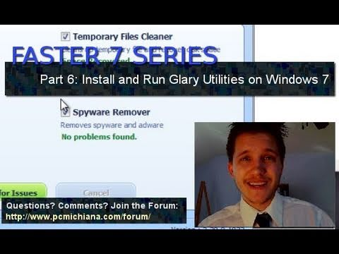 How To Run Windows 7 Glary Utilities System Optimizer - Ep. 6