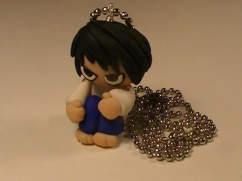 Polymer Clay Necklace - L from Death Note