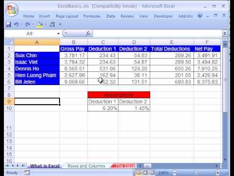 Excel Basics #2: Keyboard Shortcuts