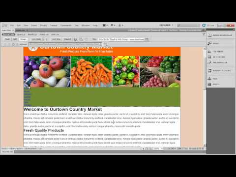 7 - Dreamweaver Project 2 - OurTown Country Market.mp4