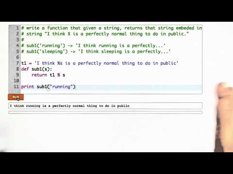 String Substitution Solution - CS253 Unit 2 - Udacity