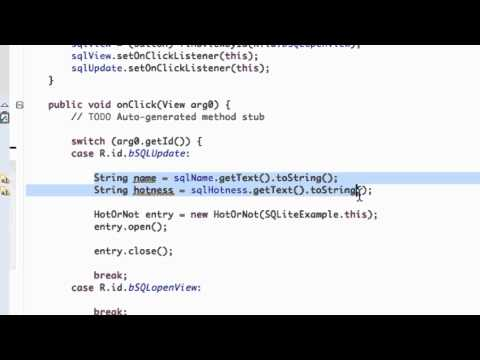 Android Application Development Tutorial - 116 - Closing SQLite Database