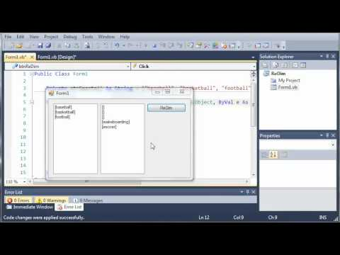 Visual Basic Tutorial - 76 - Preserve