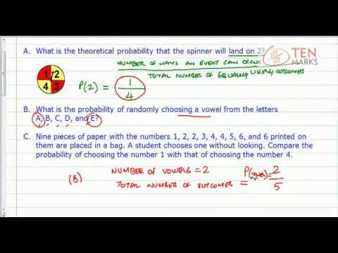 Find Theoretical Probability (Spinner and Other Problems)