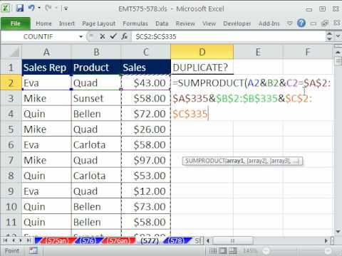 Excel Magic Trick 577: Find Duplicates, Then Extract Unique Records