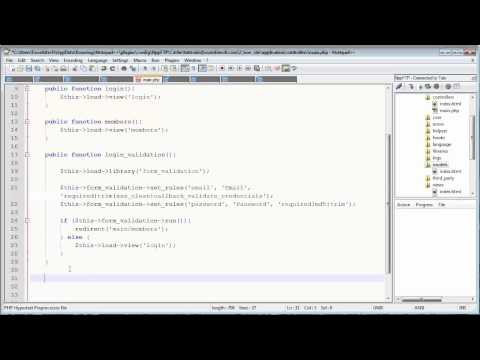 CodeIgniter Tutorials: Registration & Login (Part 5/13)