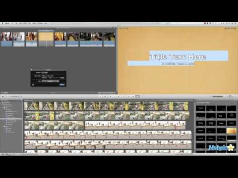 Learn iMovie 11 Tutorial Title Customization