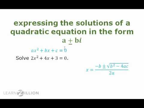 Solve quadratic equations with real coefficients using the quadratic formula - N-CN.7