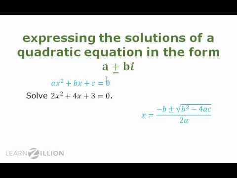 Solve quadratic equations with real coefficients using the quadratic formula - N-CN.7