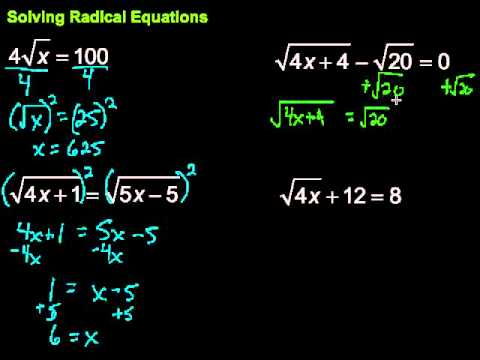 Solving Radical Equations