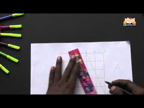 Write Block Style Alphabet 'A'  - Arts & Crafts