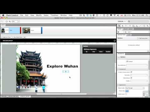 InfiniteSkills Tutorial | Flash Catalyst CS5.5 | Adding Interactions