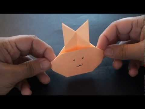 Origami Daily - 290: Easy Bunny Rabbit Face (Kids Origami) - TCGames [HD]