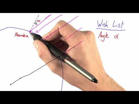 Relevant Angles - Intro to Physics - Circumference of Earth - Udacity