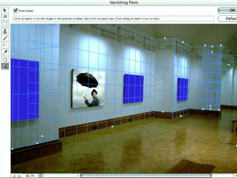 Adobe® Photoshop CS2  Vanishing Point Creating a Grid