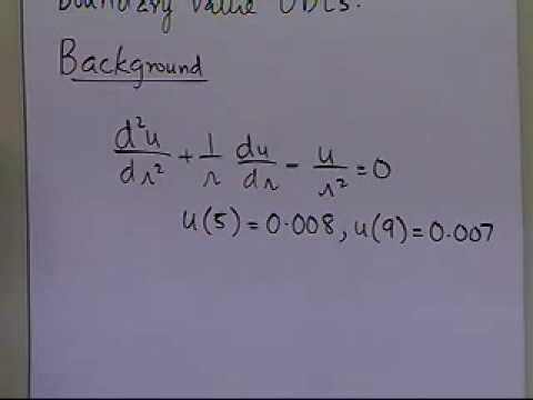 Finite Difference Method for Solving ODEs: Background: Part 1 of 2