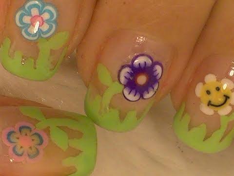 Super Easy Flowers Nail Art / Diseño Fácil de Flores