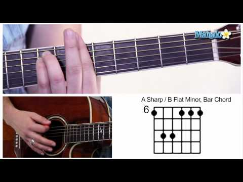 How to Play an A Sharp / B Flat Minor (A#M / Bbm) Bar Chord on Guitar (6th Fret)