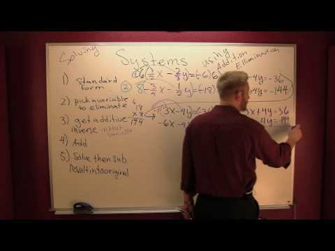 Solving a system of equations by addition ellimination 3.mov