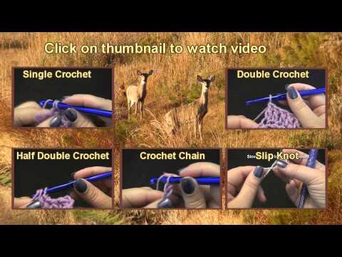 Beginner Crochet Stitches - Interactive Video