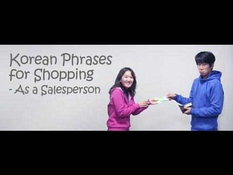 Korean Phrases for Shopping (As a Salesperson)