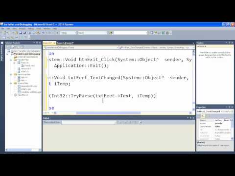 Visual C++ 2010 Express Tutorial 3 - Variables and Debugging - Error Checking Breakpoints