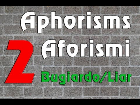 English/Italian Lessons: Aphorisms/Aforismi 2