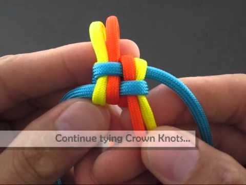 How to Make a Spectrally Clustered Crown Sinnet (Key Fob) by TIAT