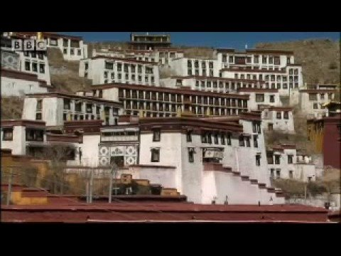 Monk lessons - shaving heads and Ghanden monastery pilgrimage - A Year in Tibet - BBC travel