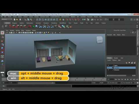 Maya tutorial : Navigating in 3D space | lynda.com