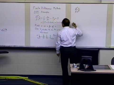 Finite Difference Method for Solving ODEs: Example: Part 1 of 2