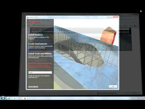Stand-Alone Install of AutoCAD Based 2011 Products