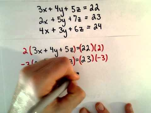 Word Problem: System of Linear Equations, 3 Unknowns, 3 Variables