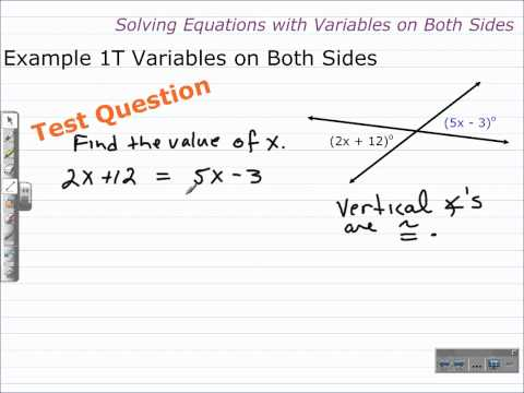 Solving Equations with Variables on Both Sides | Algebra 1 Help