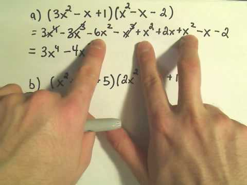 Multiplying Polynomials - Slightly Harder Examples  #2
