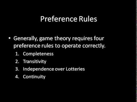 Game Theory 101: Rationality
