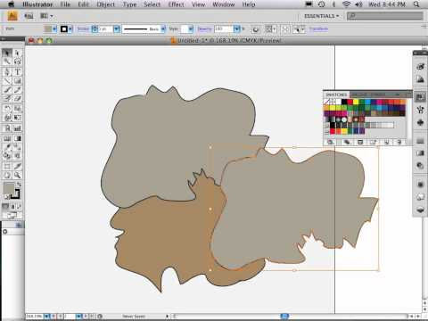 Part 4 of 9: Adobe Illustrator map tutorial TIP FOR SHARED BORDERS