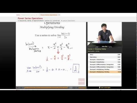 AP Calculus BC: Power Series Operations
