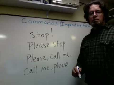 Commands in English