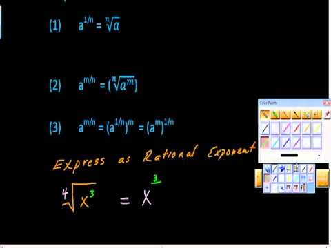 Rewriting Radicals as Rational Exponents