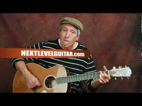 Learn Eagles inspired strumming rhythm patterns EZ acoustic guitar lesson song Peaceful style