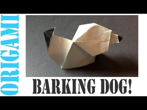 Origami Daily - 214: Barking Dog (Puppy) - TCGames [HD]