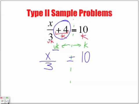 Solving Type II Equations