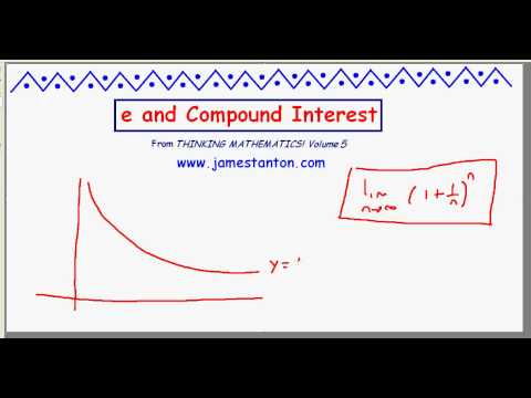 The number e and Compound Interest (TANTON Mathematics)