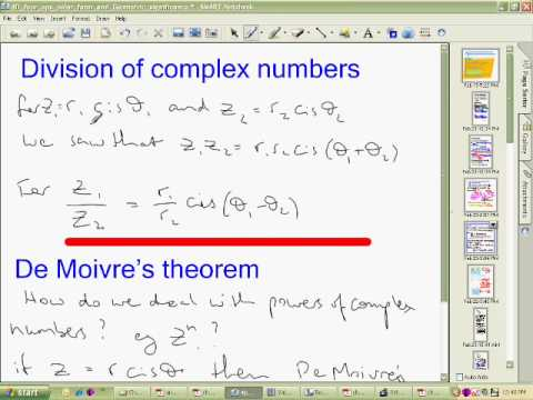 Basic Operations Polar Form of Complex Numbers Part 2