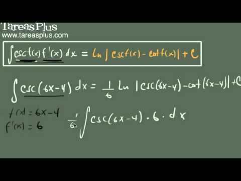 Integral de la función cosecante