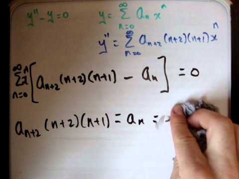 Power series differential equations example 1