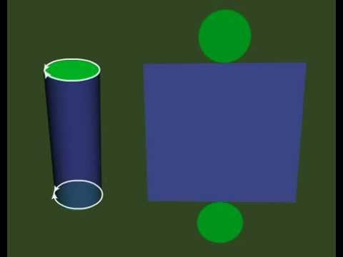 Net of a Cylinder - CBSE Class V Mathematics Online - Math Tutorials of Net of a Cylinder